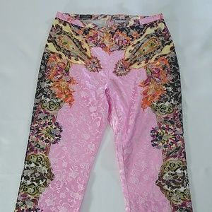 Jane Doe Collection pink embroidered pants